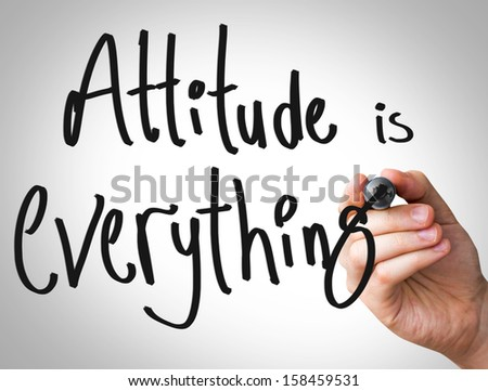 """Creative composition with the message """"Attitude is Everything"""""""