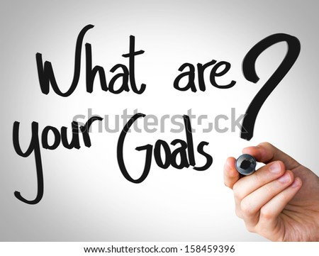 """Creative composition with the message """"What Are Your Goals"""""""