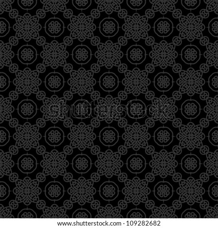 Creative design of a retro background in black color, seamless illustration