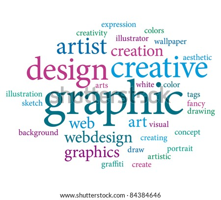 Creative design word cloud.