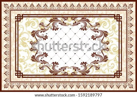 Creative designation of flower with small white square background for floor, bottom, wall, TV backdrop, or receptionist backdrop decoration. 3D rendering