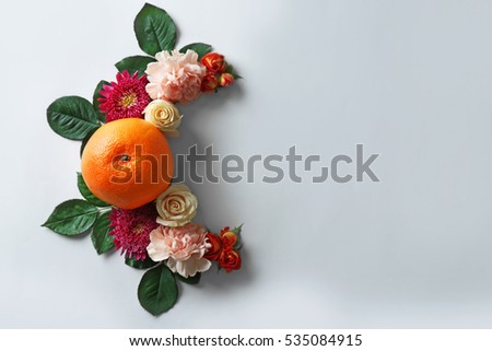 Creative flower composition on white background #535084915