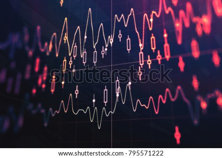 Creative forex background. Trade and investment concept. 3D Rendering