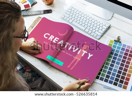 Creative Fresh Ideas Innovation Graphic Concept #526635814