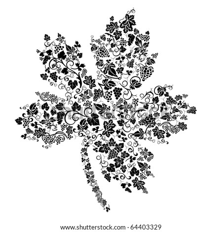 Creative grape leaf