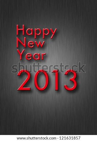 creative happy new year 2013 design.