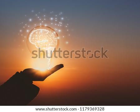 creative idea.Concept of idea and innovation #1179369328