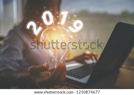 creative idea.Concept of idea and innovation / New Concept 2019