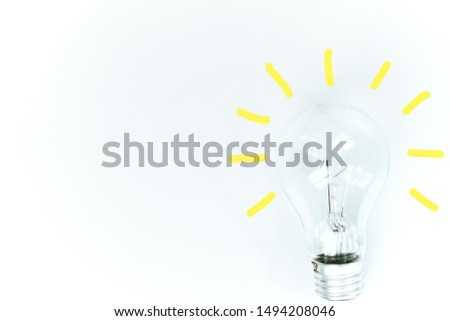 creative idea.Concept of idea and innovation on white background.