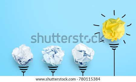 creative idea. Concept of idea and innovation with paper ball #780115384