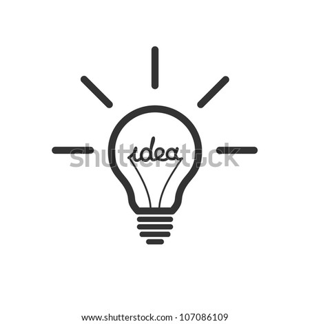 Creative idea in bulb shape as inspiration concept. - stock photo