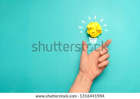 Creative idea. New idea, innovation and solution concepts #1316441984