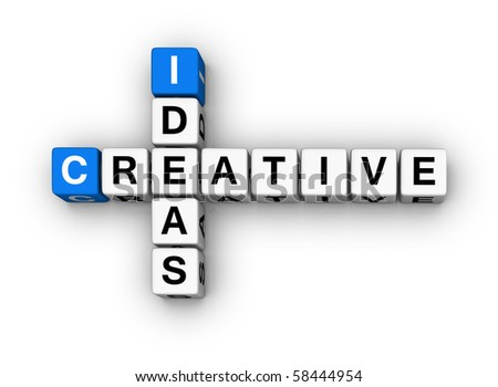 Creative Ideas  (blue-white cubes crossword series)