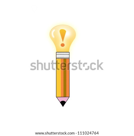 creative inspiration Light bulb, Pencil, and Good idea.
