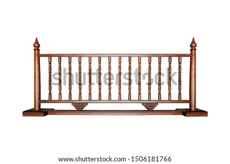 Creative layout made of old brown wooden fence isolated on a white background. Object concept. Miscellaneous concept. Horizon concept. Art concept. #1506181766
