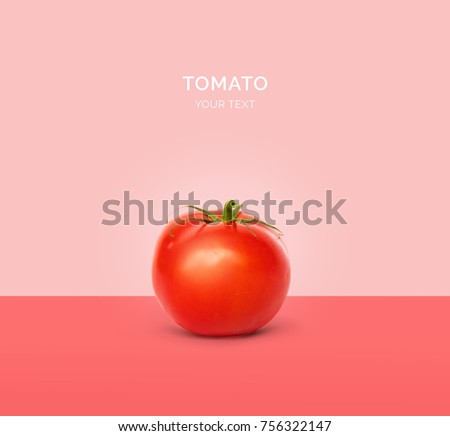 Creative layout made of tomato. Flat lay. Food concept.