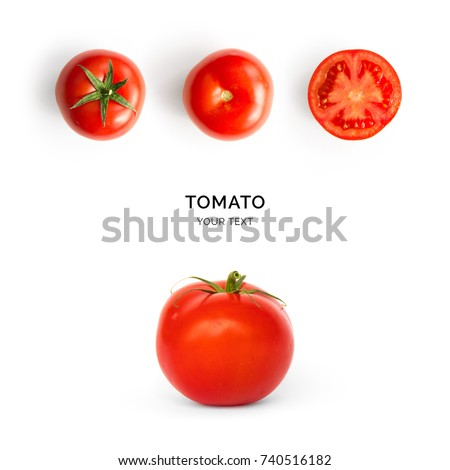 Creative layout made of tomato on the white background.  #740516182
