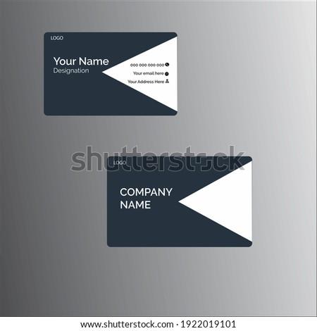 Creative Modern Ash Business Card Template Stock fotó ©