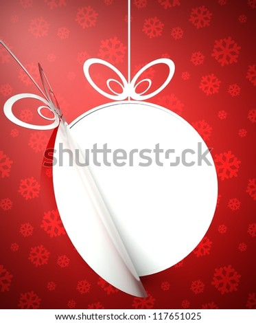Creative modern Christmas ball background, card