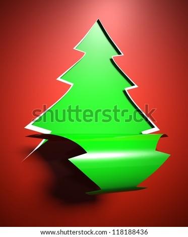 Creative modern Christmas tree background, card
