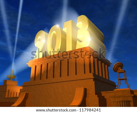 Creative New Year 2013 concept
