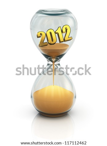 Creative New Year 2013 concept isolated on white background with reflection effect