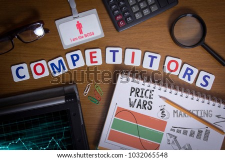 Creative on the business theme of marketing - Price wars #1032065548