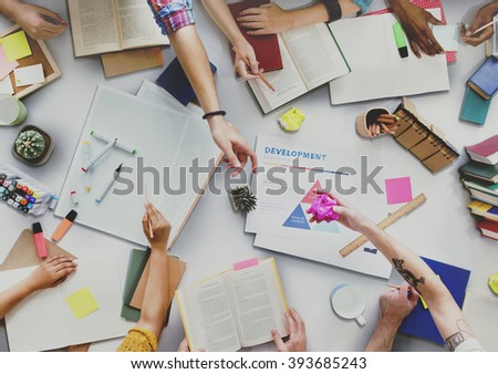 Creative People Working Together Desk Concept