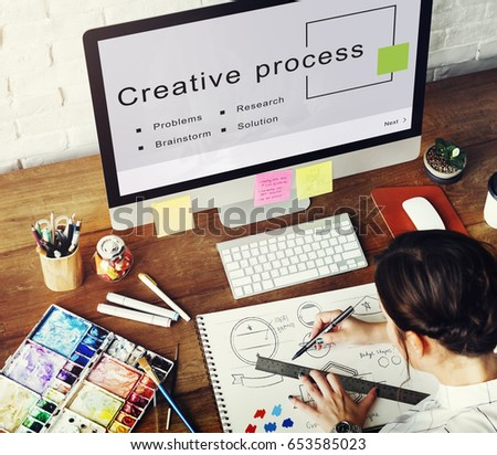 Creative Process Start up Strategy Goals Concept #653585023