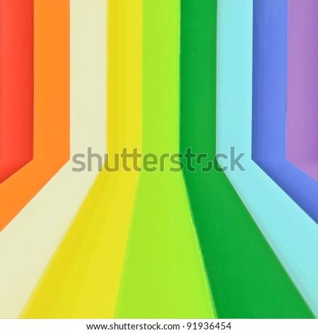 Creative Rainbow colorful wood background
