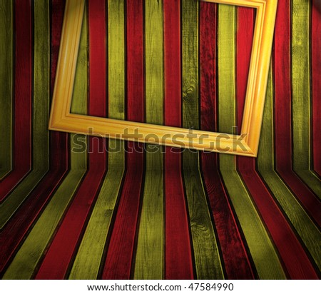 creative red and yellow sriped wooden background