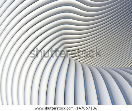 Creative shapes conceptual background. Abstract architectural wallpaper