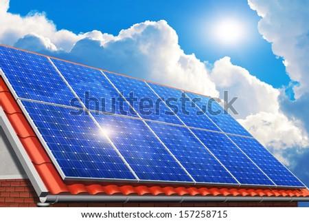 Creative Solar Power Generation Technology Alternative Energy And Environmen