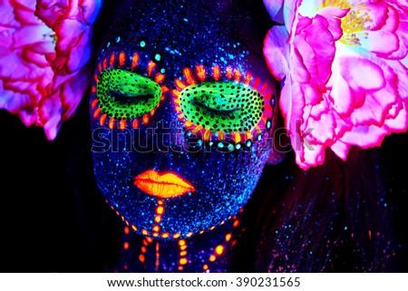 Stock Photo creative spring uv portrait