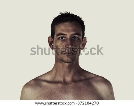 Creative style portrait profile of a man #372184270
