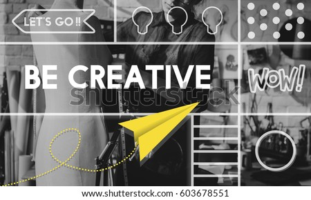 Creative Thinking Creativity Inspiration Concept  #603678551