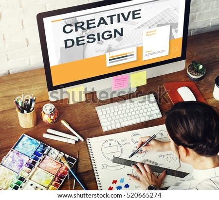 Creative Thinking Process Design Graphic Concept #520665274