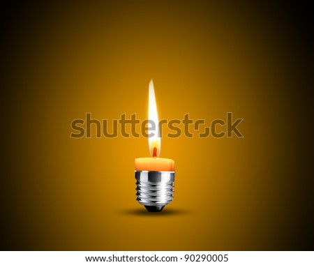 Creative Thinking With Brainstorming, wax candle into lighting bulb.
