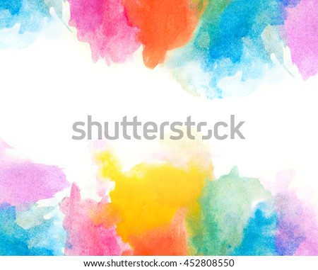 Creative vibrant grunge watercolor background