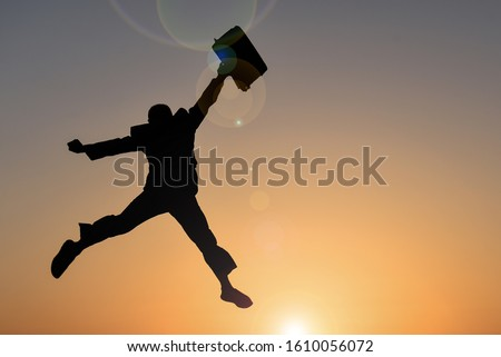 creative visual for successful employee and career happiness Stock photo ©