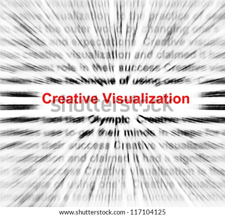 Creative visualization in a center of radial blur abstract.
