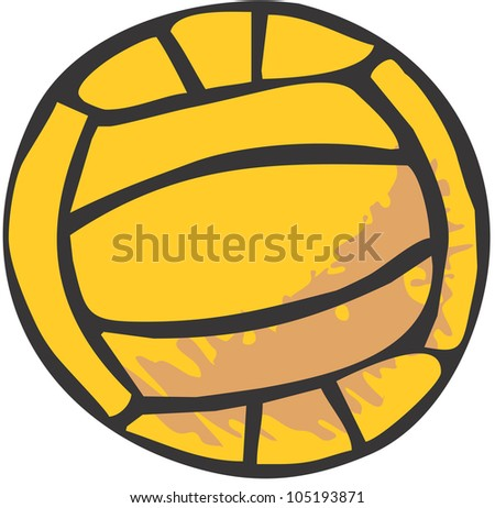 Creative Volleyball Illustration