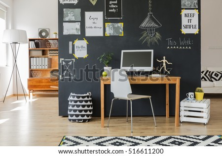 creative working space with...