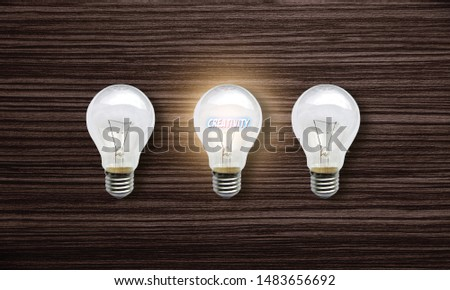 Creativity in lamplight , Creativity concept