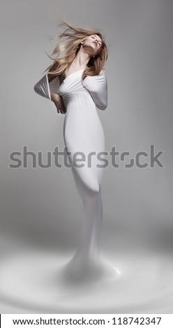 Creativity. Revival. Venus Woman Aphrodite In Fantastic Pose - Fantasy