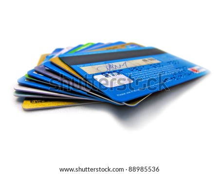 Credit and debit card stack