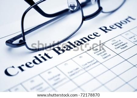 Credit balance report