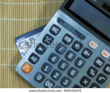 credit card and calculator concept monthly expense ez canvas