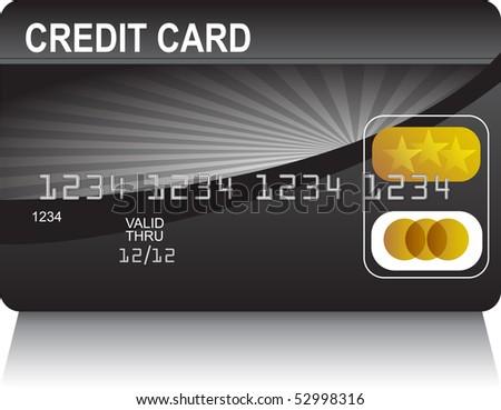 Credit Card Black Gold