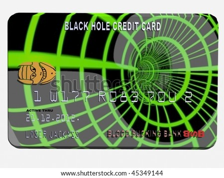 Credit card black hole - stock photo